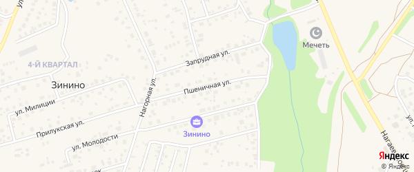 Пшеничная улица на карте села Нагаево с номерами домов