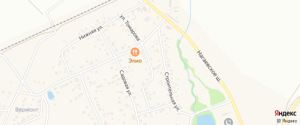 Улица Томарова на карте деревни Зинино с номерами домов