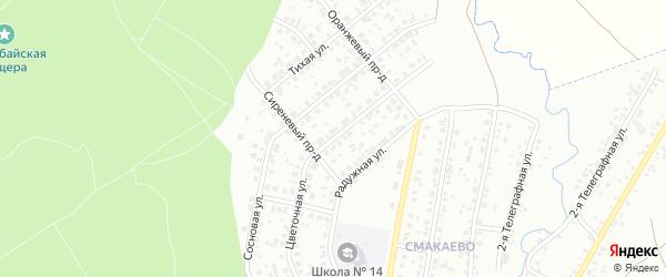 Цветочная улица на карте Ишимбая с номерами домов