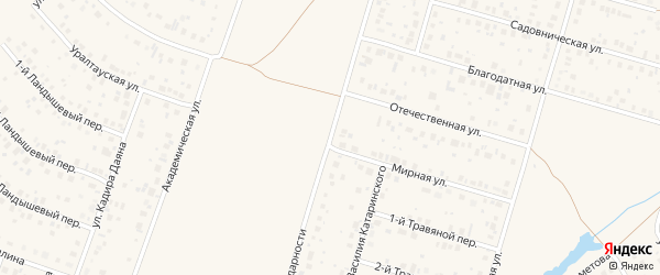 Улица Солидарности на карте села Нагаево с номерами домов