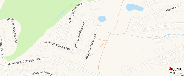 Академическая улица на карте села Нагаево с номерами домов