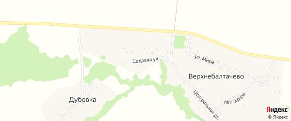 Садовая улица на карте деревни Верхнебалтачево с номерами домов