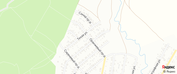 Оранжевый проезд на карте Ишимбая с номерами домов