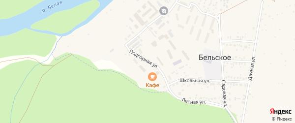 Подгорная улица на карте Бельского села с номерами домов