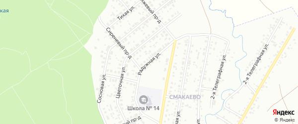 Радужная улица на карте Ишимбая с номерами домов
