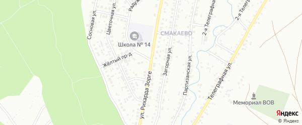 Улица Зорге на карте Ишимбая с номерами домов