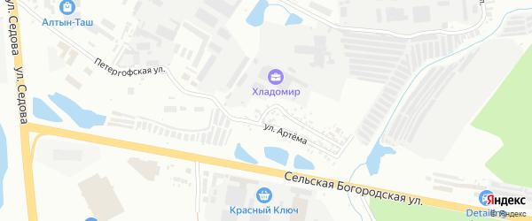 Моховая улица на карте Уфы с номерами домов