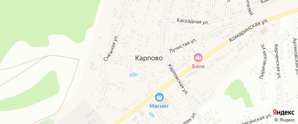 Ратная улица на карте деревни Карпово с номерами домов