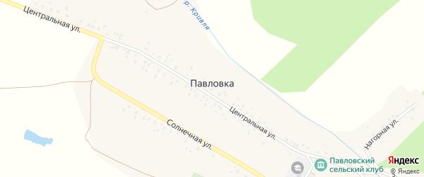 Центральная улица на карте деревни Павловки с номерами домов
