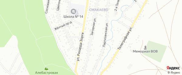 Загорная улица на карте Ишимбая с номерами домов