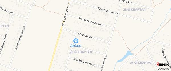 Мирная улица на карте села Нагаево с номерами домов