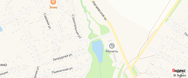 Строительная улица на карте деревни Зинино с номерами домов