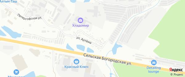 Зианчуринская улица на карте Уфы с номерами домов