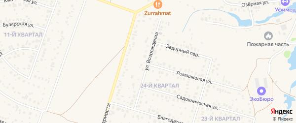Улица Возрождения на карте села Нагаево с номерами домов