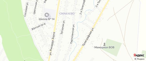 Партизанская улица на карте Ишимбая с номерами домов