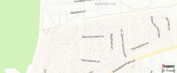 Васильковая улица на карте деревни Карпово с номерами домов