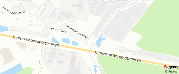 Кирпичная улица на карте Уфы с номерами домов