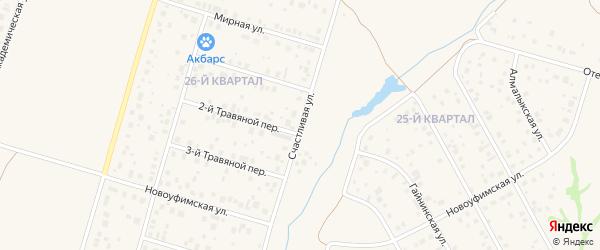 Счастливая улица на карте села Нагаево с номерами домов
