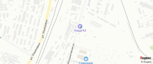 Инициативная улица на карте Уфы с номерами домов
