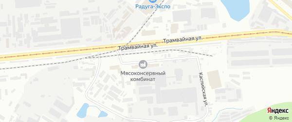 Каспийская улица на карте Уфы с номерами домов