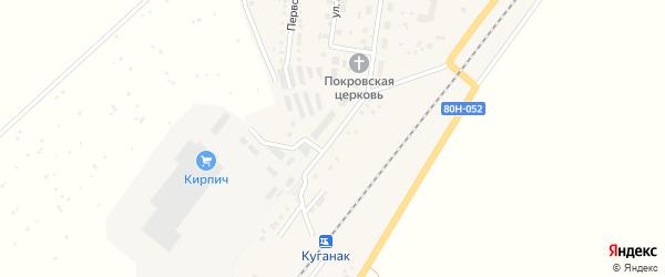 Вокзальная улица на карте села Большого Куганака с номерами домов