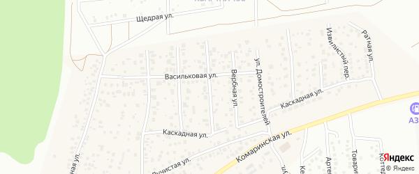 Брусничная улица на карте деревни Карпово с номерами домов