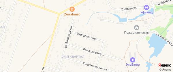 Задорный переулок на карте села Нагаево с номерами домов