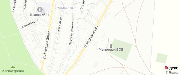 Телеграфная улица на карте Ишимбая с номерами домов