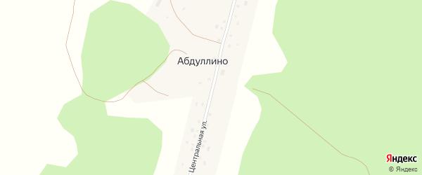 Центральная улица на карте деревни Абдуллино с номерами домов