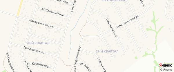 Новоуфимская улица на карте села Нагаево с номерами домов