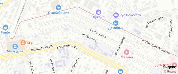 Улица Герцена на карте Уфы с номерами домов