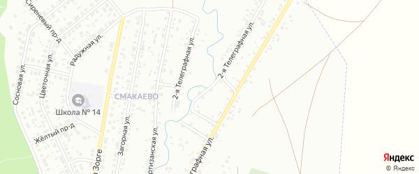 Телеграфная 2-я улица на карте Ишимбая с номерами домов