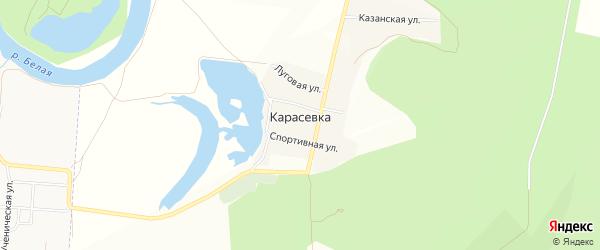 Карта деревни Карасевки в Башкортостане с улицами и номерами домов