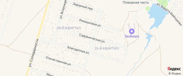 Садовническая улица на карте села Нагаево с номерами домов