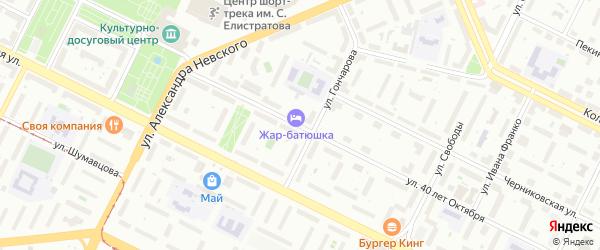 Улица 40 лет Октября на карте Уфы с номерами домов