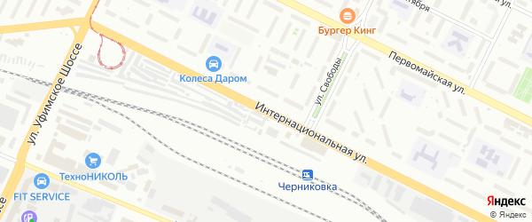Интернациональная улица на карте Уфы с номерами домов
