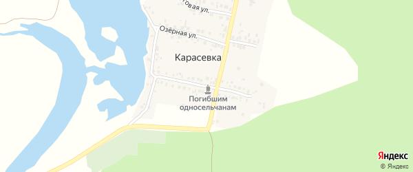 Спортивная улица на карте деревни Карасевки с номерами домов
