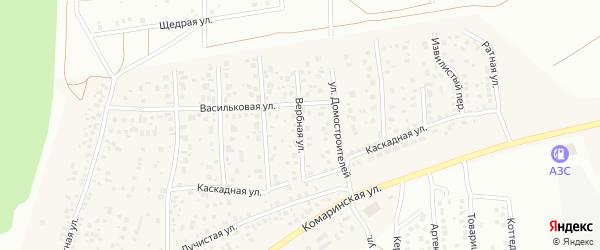 Вербная улица на карте деревни Карпово с номерами домов