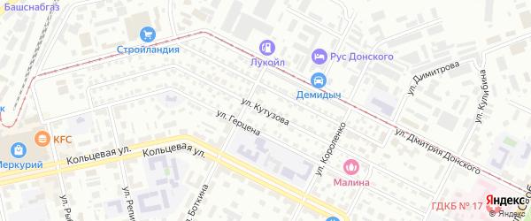 Улица Кутузова на карте Уфы с номерами домов