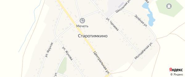 Молодежная улица на карте деревни Старотимкино с номерами домов