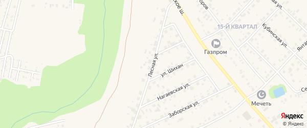 Лесная улица на карте села Нагаево с номерами домов