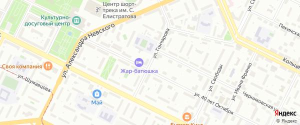 Улица Гончарова на карте Уфы с номерами домов