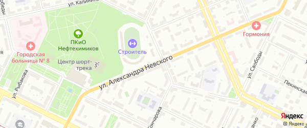 Улица Александра Невского на карте Уфы с номерами домов