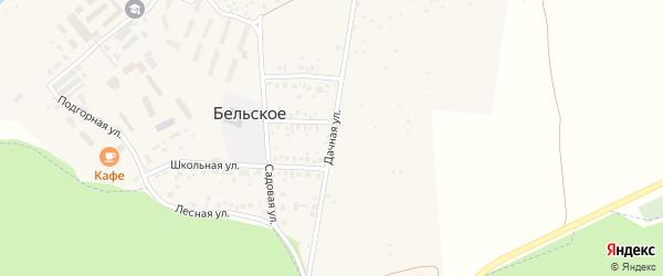 Дачная улица на карте Бельского села с номерами домов
