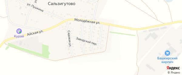 Цветочная улица на карте деревни Сальзигутово с номерами домов