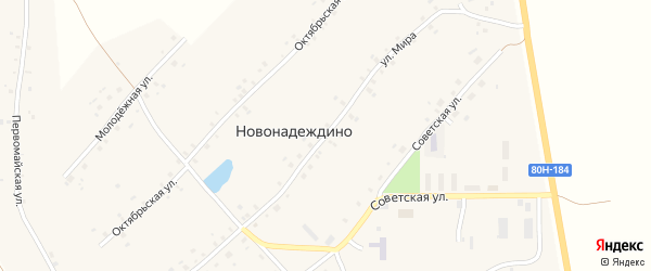Улица Мира на карте села Новонадеждино с номерами домов
