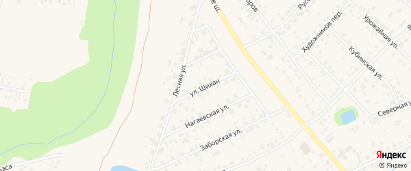 Улица Шихан на карте села Нагаево с номерами домов