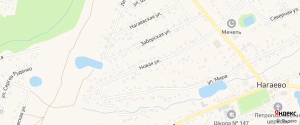 Новая улица на карте села Нагаево с номерами домов