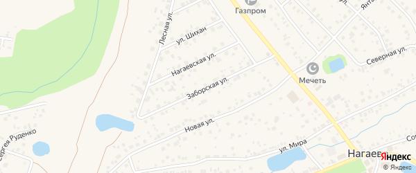 Заборская улица на карте села Нагаево с номерами домов