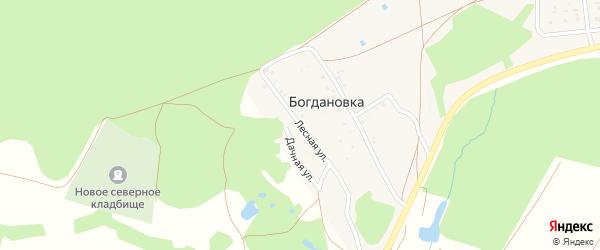 Лесная улица на карте деревни Богдановки с номерами домов